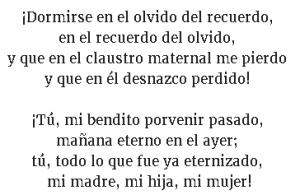 Dormirse en el olvido del recuerdo - Miguel de Unamuno