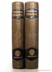 Miguel de Unamuno - Ensayos (dos tomos) - Aguilar (España) 1966